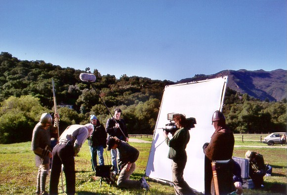 "Filming for ""The Conquerors"""